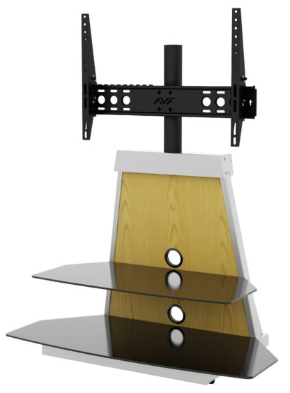An Image of AVF Options 37-65 Inch Stack TV Stand with Mount