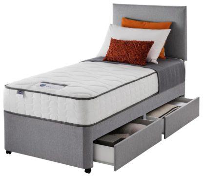 An Image of Silentnight Middleton 800Pkt Comfort 2Drw Single Divan -Grey