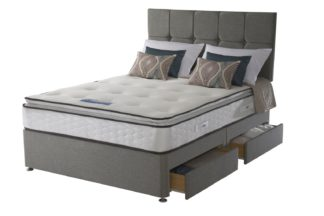 An Image of Sealy 1400 Pocket Memory Pillowtop 4 Drawer Double Divan