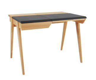 An Image of Habitat Beckett 2 Drawers Desk - Oak