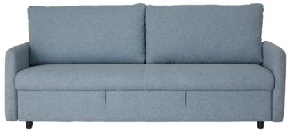 An Image of Habitat Freddy 2 Seater Fabric Sofa Bed - Blue