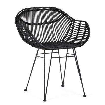 An Image of Samara Accent Chair - Black Black