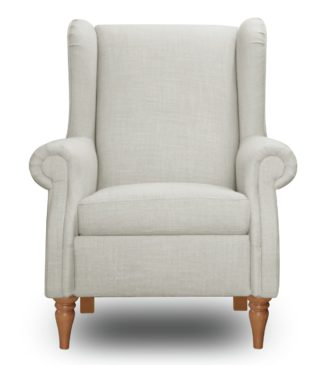 An Image of Argos Home Argyll Fabric High Back Chair - Cream