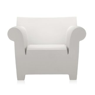 An Image of Kartell Bubble Club Armchair Zinc White