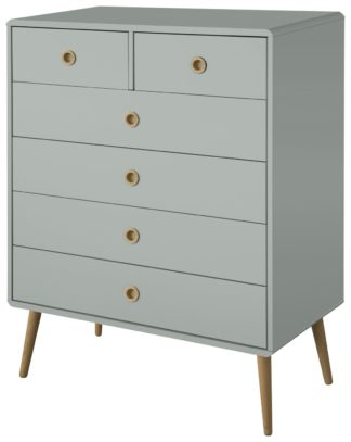 An Image of Softline 4+2 Drawer Chest of Drawers - Grey
