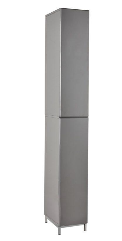 An Image of Argos Home Gloss Tallboy - Grey