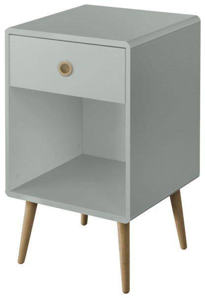 An Image of Softline 1 Drawer Bedside Table - Grey