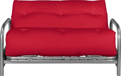 An Image of Argos Home Mexico 2 Seater Futon Sofa Bed - Red