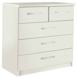 An Image of Argos Home Hallingford 3+2 Drawer Chest - White