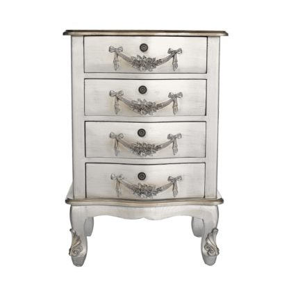 An Image of Toulouse Silver 4 Drawer Chest Silver