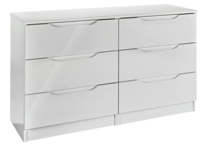 An Image of Legato 3+3 Drawer Chest - Grey Gloss
