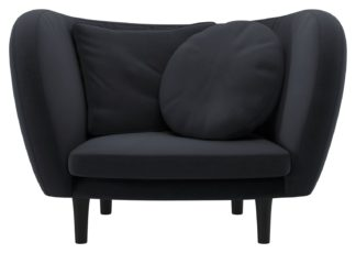 An Image of Habitat Arya Charcoal Velvet Armchair