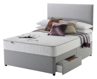 An Image of Silentnight Middleton 800 PKT Comfort 2DRW Grey Superking