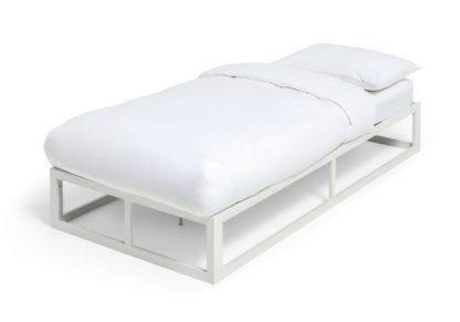 An Image of Habitat Platform Single Bed Frame - Black