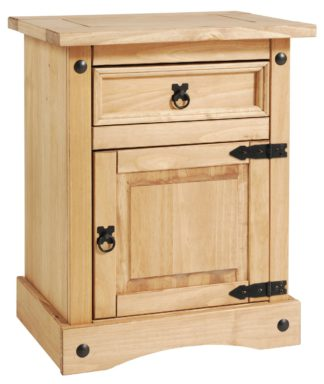 An Image of Argos Home Puerto Rico Bedside Table - Light Pine
