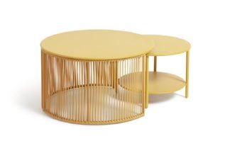 An Image of Habitat Ipanema 2 Coffee Tables - Yellow
