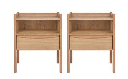 An Image of Habitat Derwent 2 Bedside Table Set - Oak