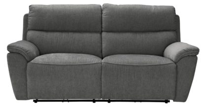An Image of Argos Home Sandy 3 Seater Manual Recliner Sofa - Charcoal