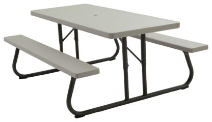 An Image of Lifetime Rectangular 6 Person Picnic Table - Grey