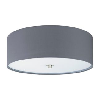 An Image of Eglo PasteriFlush Ceiling Light- Grey