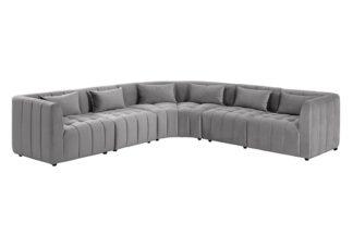 An Image of Essen Large Corner Sofa – Dove Grey