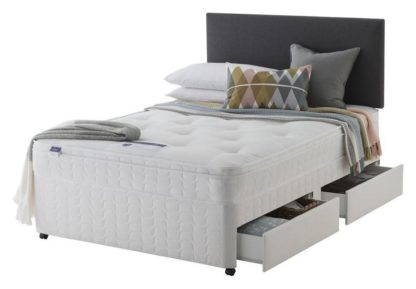 An Image of Silentnight Travis Ortho 4 Drw Divan - Small Double
