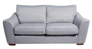 An Image of Habitat Lotus 3 Seater Fabric Sofa - Silver