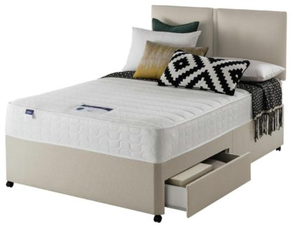 An Image of Silentnight Hatfield Memory 2 Drawer Divan - Small Double