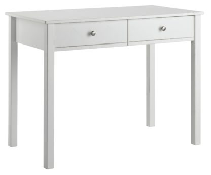 An Image of Argos Home Brooklyn 2 Drawer Desk - White