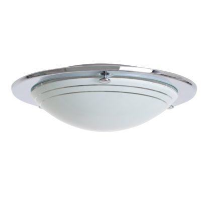 An Image of Argos Home Flush light Fitting - Chrome