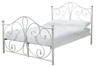 An Image of Argos Home Marietta Small Double Metal Bed Frame - White