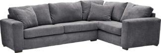 An Image of Habitat Eton Right Corner Fabric Sofa - Charcoal