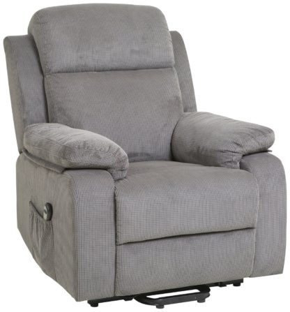 An Image of Argos Home Bradley Fabric Rise & Recline Chair - Charcoal