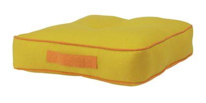 An Image of Habitat Bright Floor Cushion - Mustard