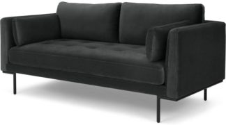 An Image of Harlow, Large 2 Seater Sofa, Mourne Grey Velvet