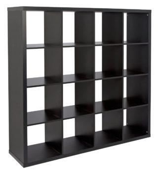 An Image of Habitat Squares Plus 16 Cube Storage Unit - Black