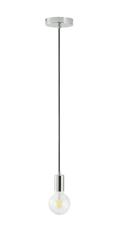 An Image of Argos Home Flex & Bayonette Ceiling Light - Chrome & Black
