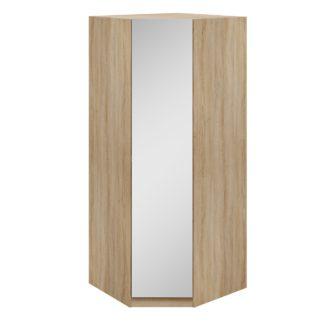 An Image of Hampton Corner Mirrored Wardrobe Brown
