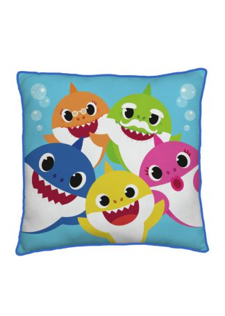 An Image of Baby Shark Family Square Cushion