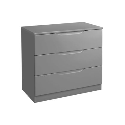 An Image of Legato Grey 3 Drawer Chest Grey