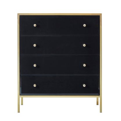 An Image of Fenwick 4 Drawer Chest Black