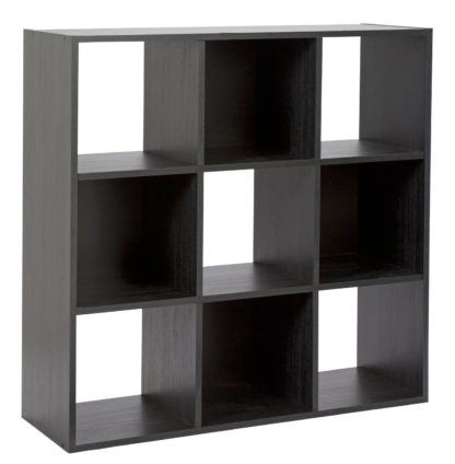 An Image of Habitat Squares 9 Cube Storage Unit - Black