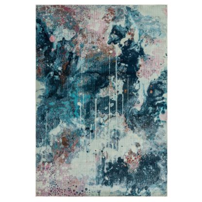 An Image of Asiatic Amelie Abstract Woven Rug - 80x150cm - Blue