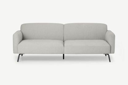An Image of Toula 3 Seater Sofa, Hail Grey