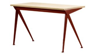 An Image of Vitra Compass Direction Desk Red