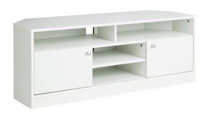 An Image of Habitat Corners Large TV Unit - White