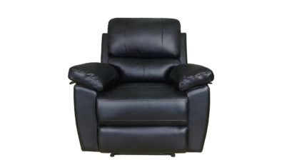 An Image of Argos Home Toby Faux Leather Rise & Recline Chair - Black