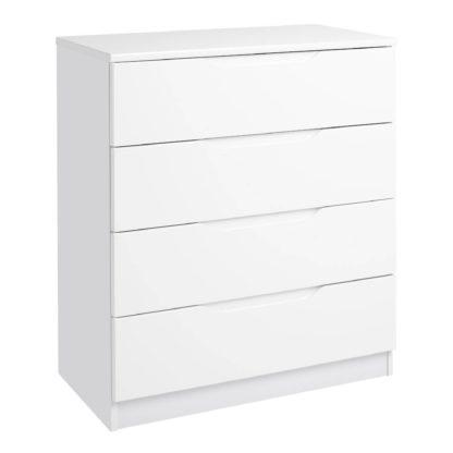 An Image of Legato White 4 Drawer Chest White