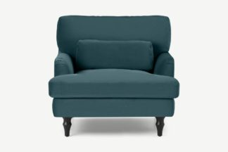An Image of Tamyra Loveseat, Steel Blue Velvet