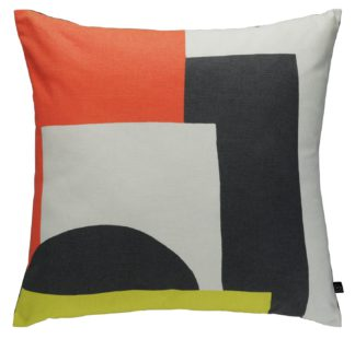 An Image of Habitat Miro 45 x 45cm Patterned Cushion - Multicoloured